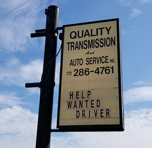 Transmission-Services-Chicago-IL-sign